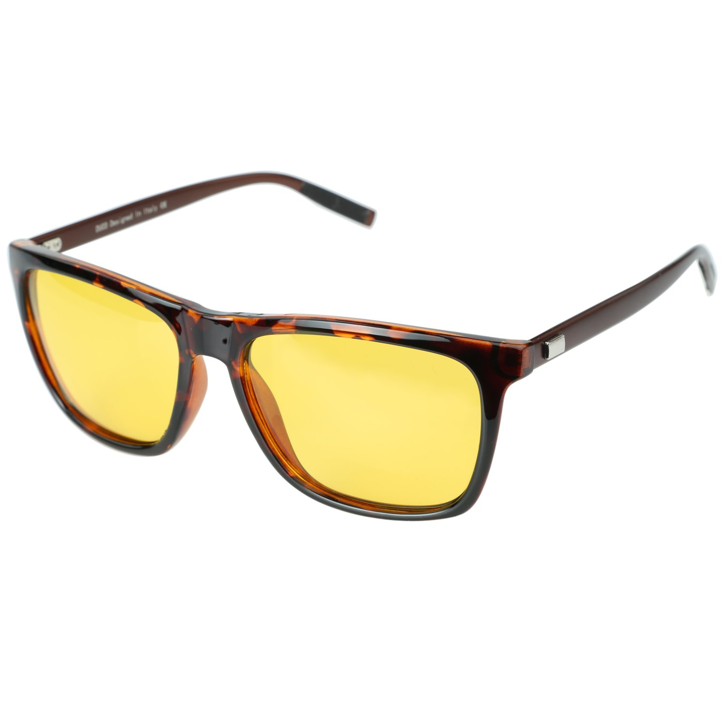Duco Night Driving Glasses for Headlight Anti-glare Night Time Yellow Lenses 3029 by DUCO