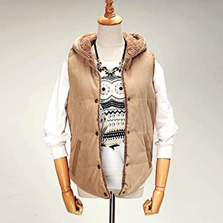 e60271510357c UltiFit(TM) New Fashion autumn winter vest women Hooded vest Slim Plus  Velvet Vest Thermal Down Cotton thick With A Hood Vest  Amazon.co.uk   Kitchen   Home