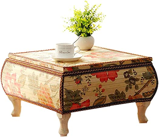 Tables Tatami Coffee Bay Window Floating Balcony Coffee Square Color Beige, Size 604030cm