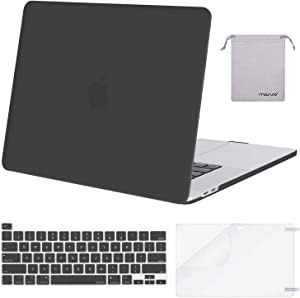 MOSISO MacBook Pro 16 inch Case 2019 Release A2141 with Touch Bar & Touch ID, Plastic Hard Shell Case & Keyboard Cover & Screen Protector & Storage Bag Compatible with MacBook Pro 16, Space Gray