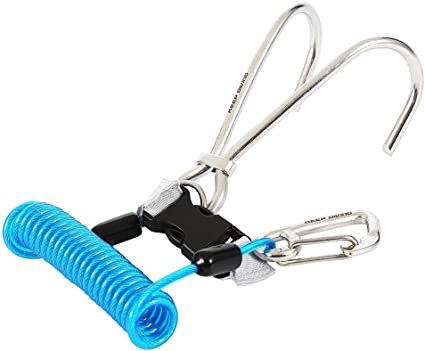 Heavy Duty 316 Stainless Steel Dual Reef Drift Hook /& Rope Clip for Scuba Diving
