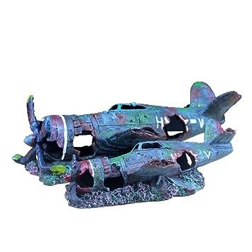 MUJING Adornos para Acuarios Suministros De Tanques De Peces Decoraciones Paisajes Paisajes Librería Accesorios De Mesa Decoración: Amazon.es: Hogar