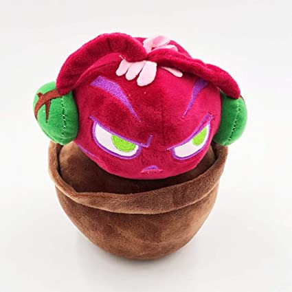 """7/"""" PLANTS vs ZOMBIES POPULAR GAME Cute Plush Toy Soft Doll Sound Beet NEW"""