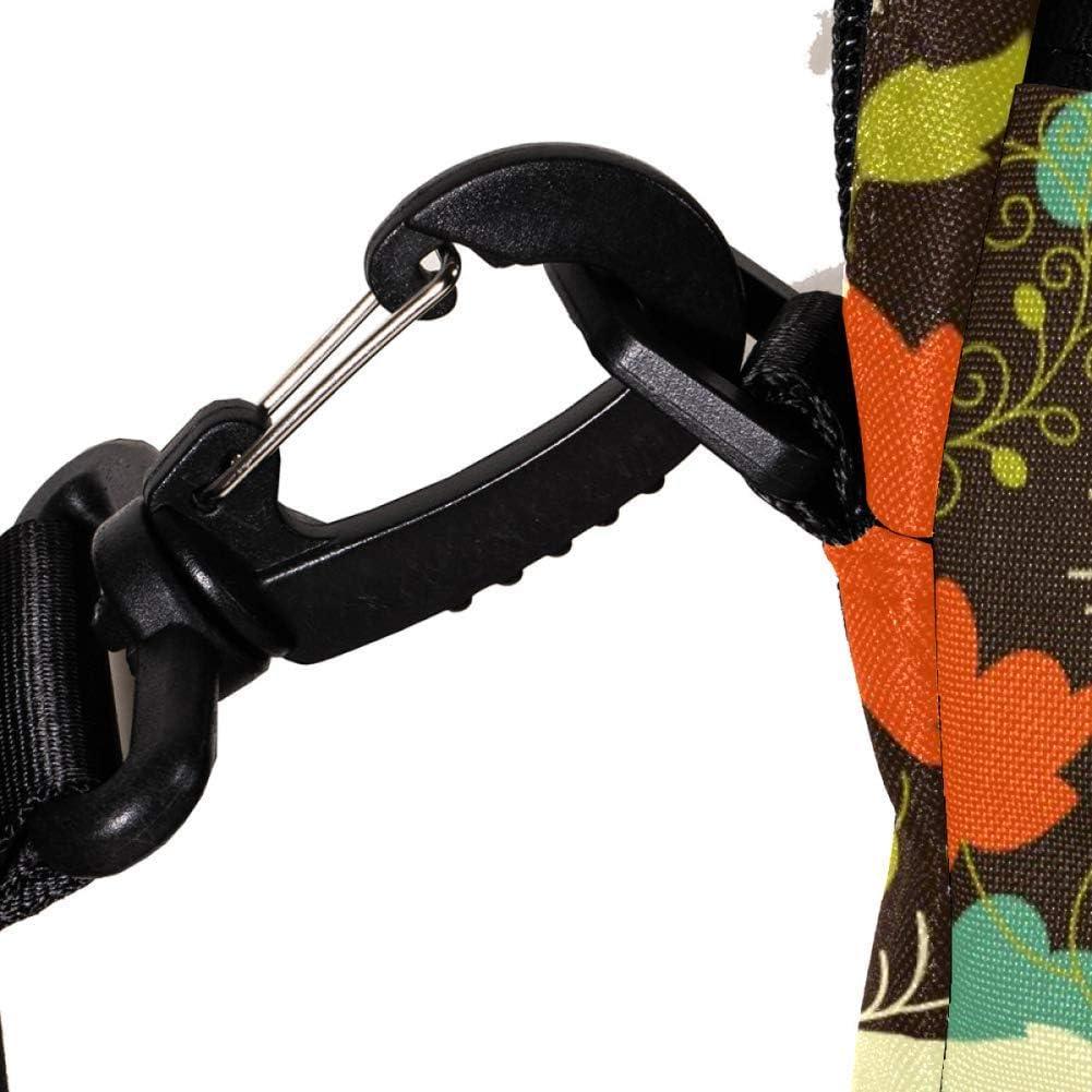 Forest Fox Floral Pattern Laptop Messenger Bag Zipper Notebook Computer Sleeve Case Compatible 14-15.4 Inch Laptop