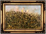 "Historic Art Gallery Custer's Last Stand 1899 by Edgar Samuel Paxson Framed Canvas Print, 12"" x 18"", Gold Gallery"