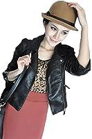 GuDeKe レザージャケット レディース ダブルジッパーライン フェイク レザー ライダース ジャケット 黒のジャケット