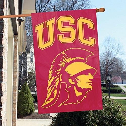 (AFUSCT USC with Trojan Head 44x28 Applique Banner)