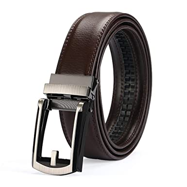 LYCLOTH Cinturón de cuero casual para hombre Hebilla sólida ...