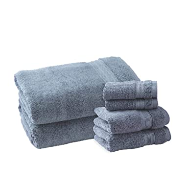 Charisma Plush Towels Bundle | Includes: 2 Luxury Bath Towels, Hand Towels & Washcloths | Quality, Ultra Soft Towel Set | 6 Pieces