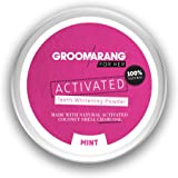 Groomarang For Her Activated Teeth Whitening Powder Charcoal And Coconut Shell Mint For Her 50g