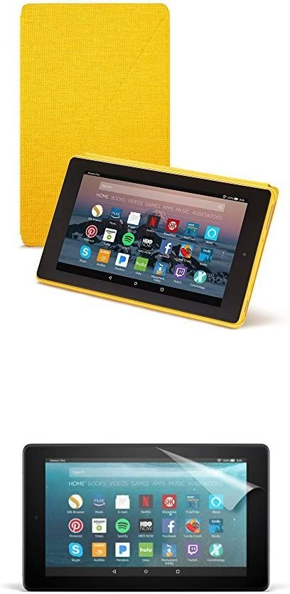 Canary Yellow Fire 7 Tablet Case 7th Generation, 2017 Release