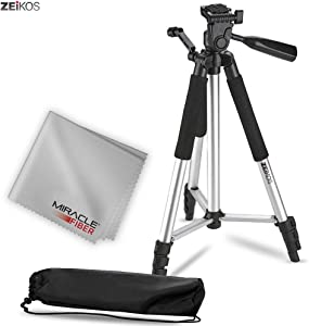 Zeikos ZE-TR57A 57-Inch Full Size Photo/Video Tripod Includes Deluxe Carrying Case Can be Used with Camcorders and Digital Cameras