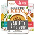 Kettle and Fire Keto Soup Variety Pack, Keto, Paleo Friendly, Gluten Free, High in Protein and Collagen, 4 Pack