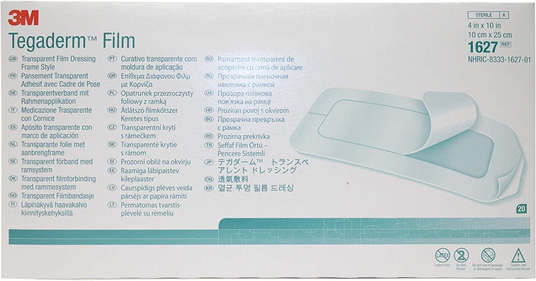 "3M Tegaderm Transparent Dressing #1627 (4"""" x10) (Box of 20)"