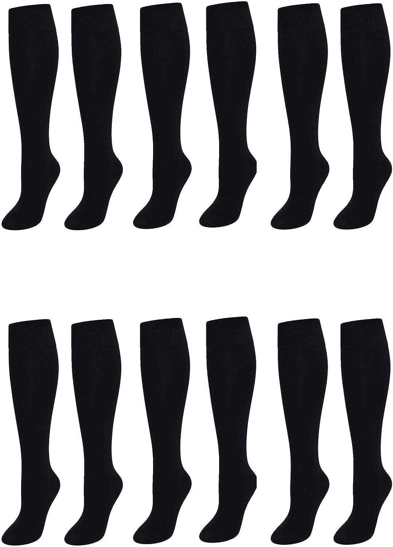 grigio 12 paia di calzini lunghi per la scuola bianco Sock Stack Calze al ginocchio colore: nero blu navy