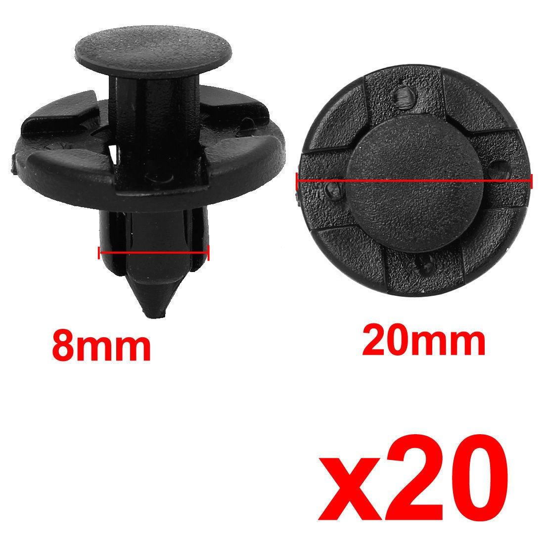 MagiDeal 20pcs 8mm Trou Rivets Clips Bavettes Fixation Pare-Chocs pour Nissan