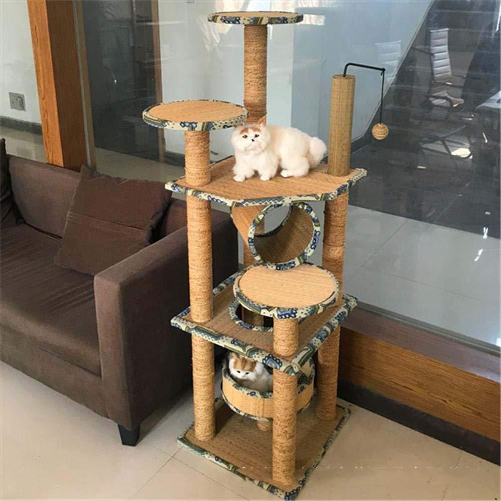 Weiwei Cat crawl frame cat nest sea Rope cat Tree Cat crawl rack for game sleep 140cm 45cm  45cm