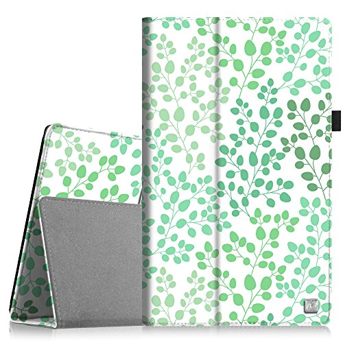Fintie Folio Case for Fire HD 10 - Slim Fit Leather Standing (Breeze Leaf)