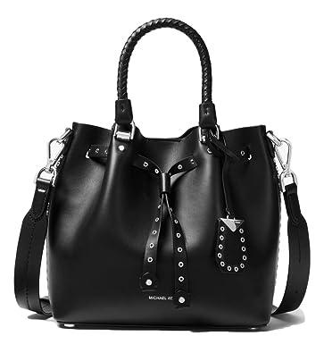0816761b MICHAEL Michael Kors Blakely Small Grommeted Leather Bucket Bag, Black:  Handbags: Amazon.com