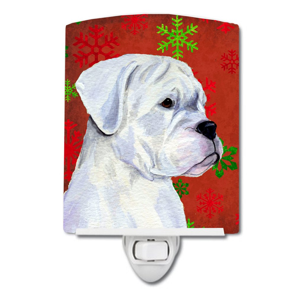 Carolines Treasures Boxer Red Green Snowflakes Christmas Night Light 6 x 4 Multicolor