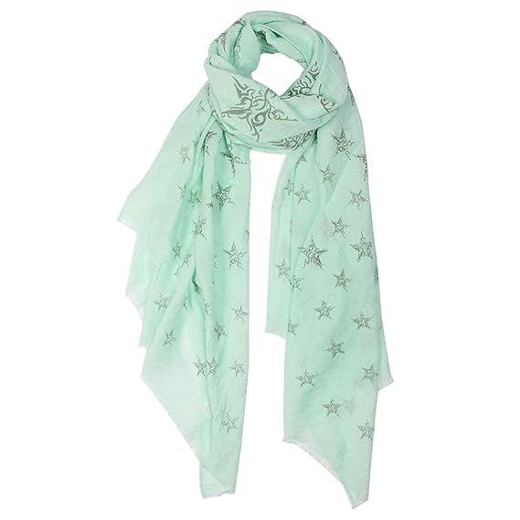 Glamexx24 Bufanda para mujer Bandana Foulard Star Motif Pañuelo de estola  larga para primavera verano Todo el año  Amazon.es  Ropa y accesorios e225e3c17d3