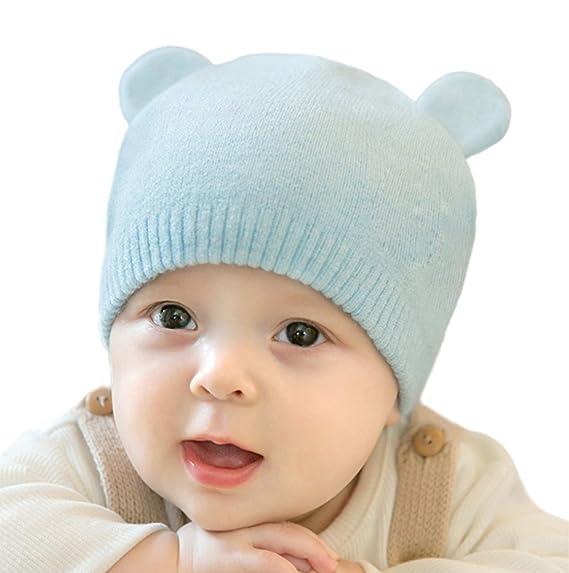 ECHERY Bebé Niños Niñas Otoño Invierno Cálido Tejer Gorro De Niño ...