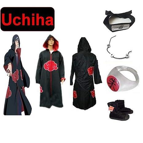 Anime Naruto japonés Cosplay por Set itachi Uchiha ---Ninja Akatsuki  combate snowboard 7d19d9eed90