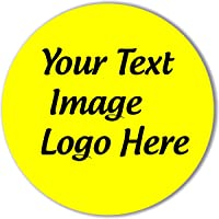 100 Round Custom Stickers Vinyl Personalized Made Die Cut Any Name,Text, Image, Logo (2x2 Inches)