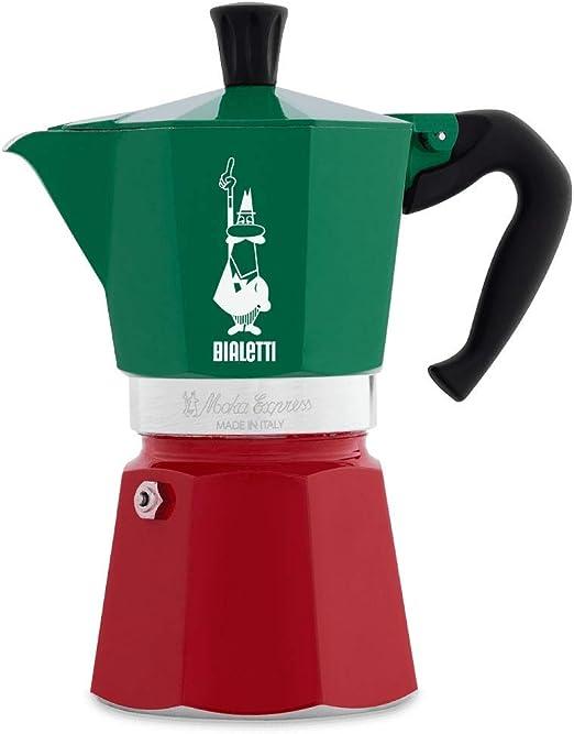 Bialetti 8006363018944 - Cafetera (Independiente, Cafetera de Filtro, 0,16 L, De café molido, Verde, Rojo, Blanco): Amazon.es: Hogar