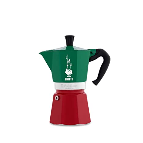 Amazon.com: Bialetti Moka Express Tricolor Italia - 6 tazas ...