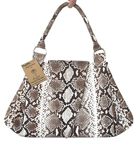 Authentic Snake Skin Women's Python Tote Hobo Bag Pyramid - Tote Leather Python