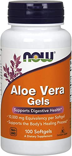 NOW Supplements, Aloe Vera Aloe barbadensis 10,000 mg, Supports Digestive Health*, 100 Softgels