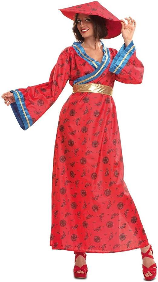 Disfraz de China Azul - Mujer, M: Amazon.es: Ropa y accesorios