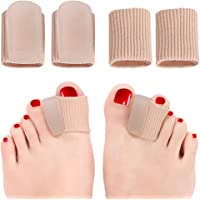 Toe Spacer for Bunion, Toe Corrector and Straighteners for Overlapping Toe, Drift Toes, Hammer Claw Toe, 4 PCS Gel Toe Separators Foot Pain Relief, Big Toe Alignment for Women & Men