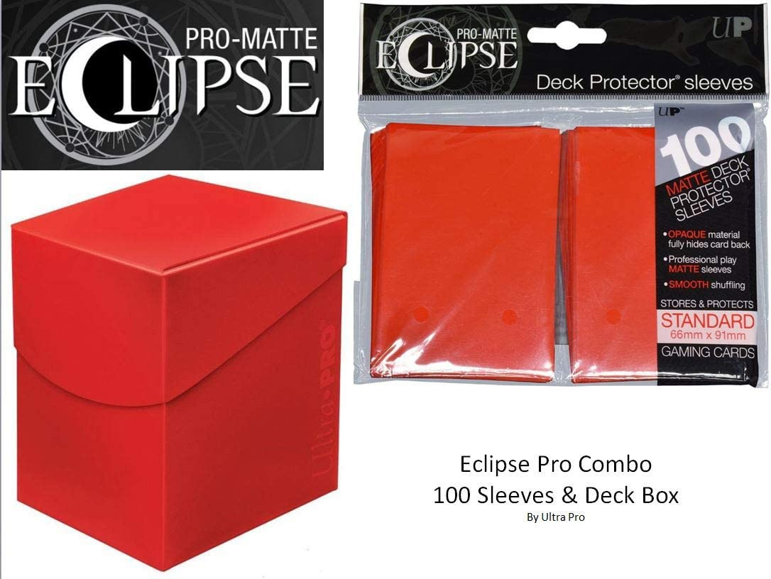 Apple Red Deck Protector & Deck Box Combo (100 Count) for MTG Pro-Matte Eclipse by Ultra Pro
