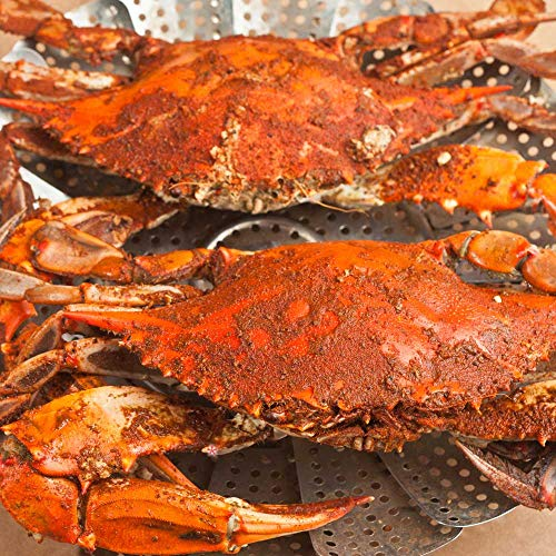 Cameron's Seafood Jumbo Maryland Blue Crabs - Extra Large Jimmys Steamed (12) (Blue Maryland Steamed Crabs)