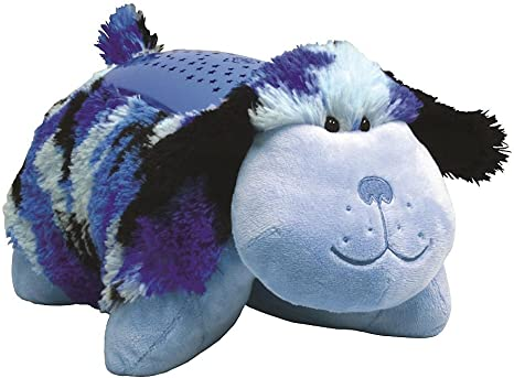 Amazon Com Pillow Pets Dream Lites Blue Camo Dog 11 Toys Games