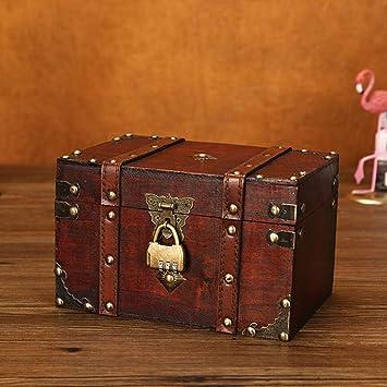 Loveinwinter Caja De Madera De Joyería Caja De Almacenamiento ...