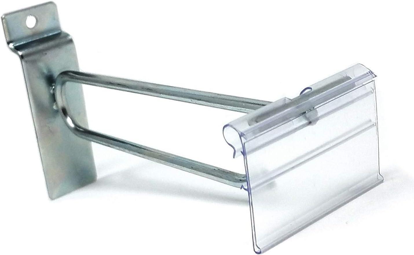 "Get 100 Pcs 6/"" SLatwalll Hooks For Slatwall Panel Display WHITE"