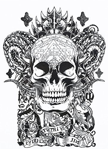 Calavera Tattoo Negro temporär brazo Brazo tatuaje pegatinas ...
