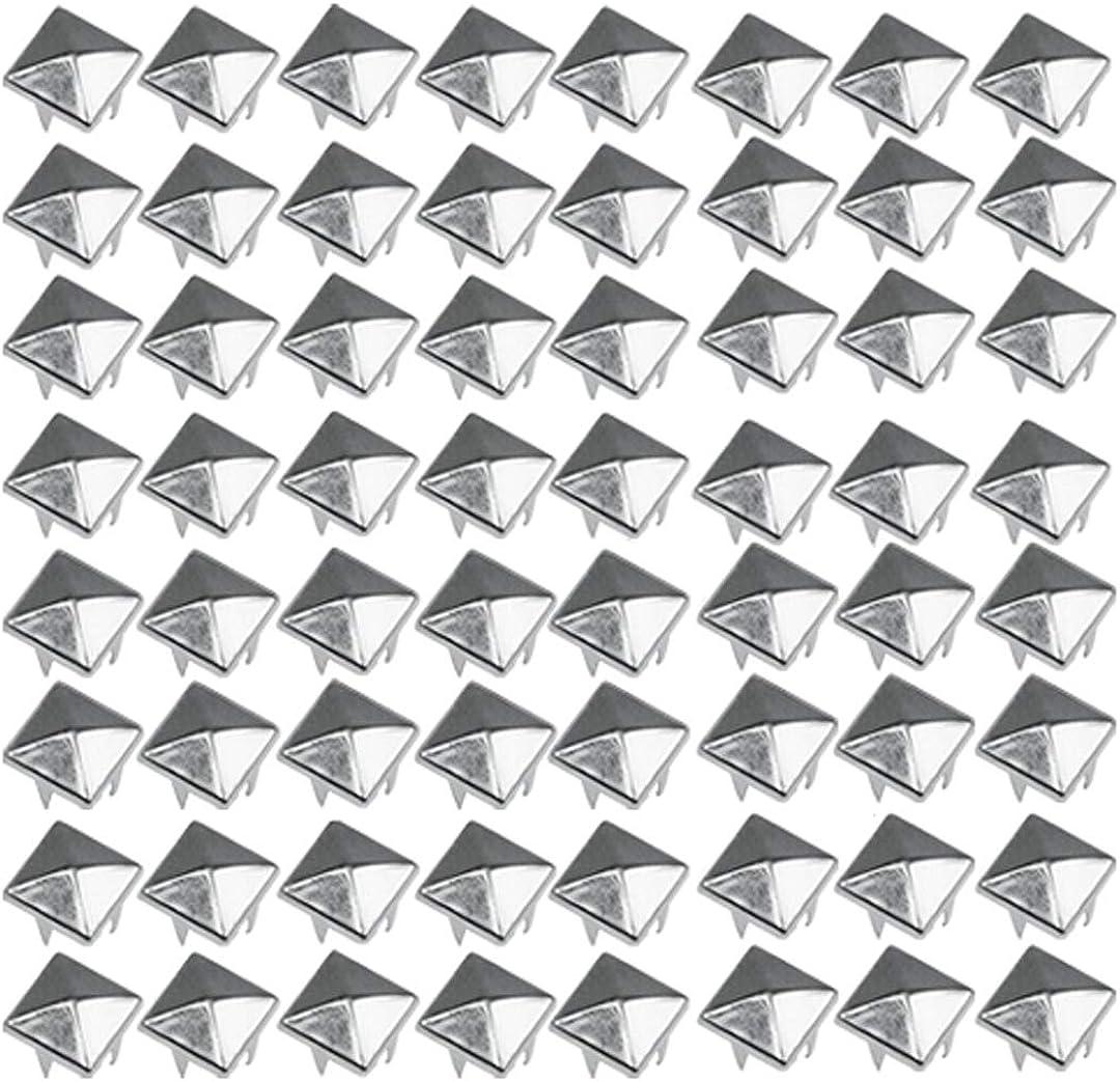TRIXES Tachuelas de pirámide para prendas de vestir con remache de níquel para cinturones, bolsos de cuero - estética Punk