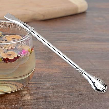 Cucharas para mezclar café, cucharas de acero inoxidable de mango largo para cuchara de café