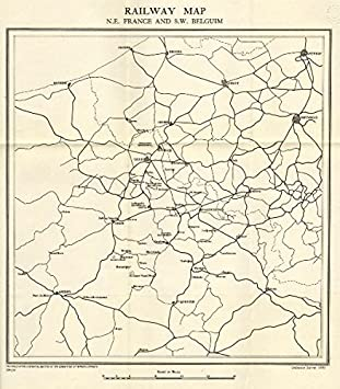 Westfront 1 Weltkrieg Karte.Amazon De Aus Dem 1 Weltkrieg Western Front Railway Karte