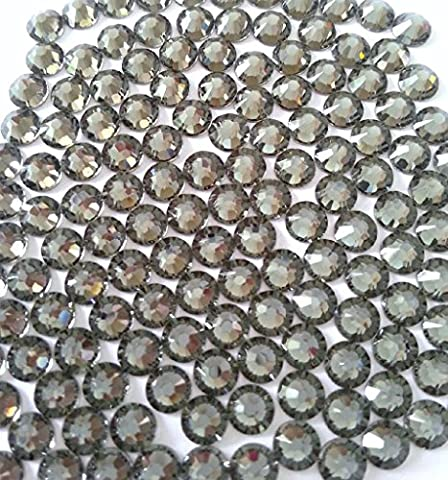 BLACK DIAMOND Crystal Rhinestones Flatback 36 SWAROVSKI 6.4mm 30ss ss30 - 30ss Swarovski Rhinestones