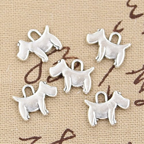 (50pcs Charms Scotty Dog 15x12mm Antique Making Vintage Tibetan Silver Zinc Alloy Pendant )