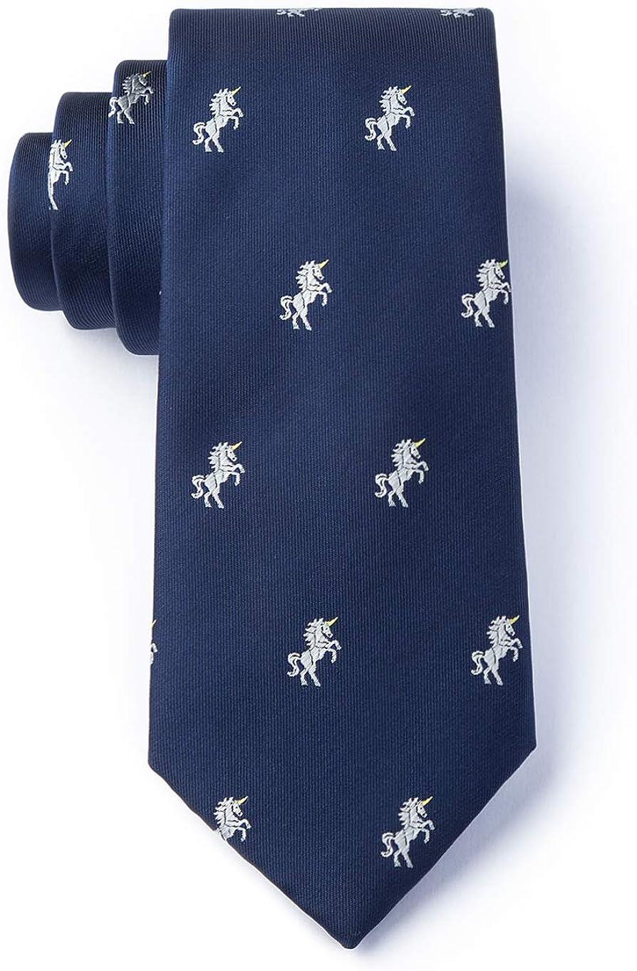 Mens Hipster Microfiber Unicorns Mystical Tie Necktie