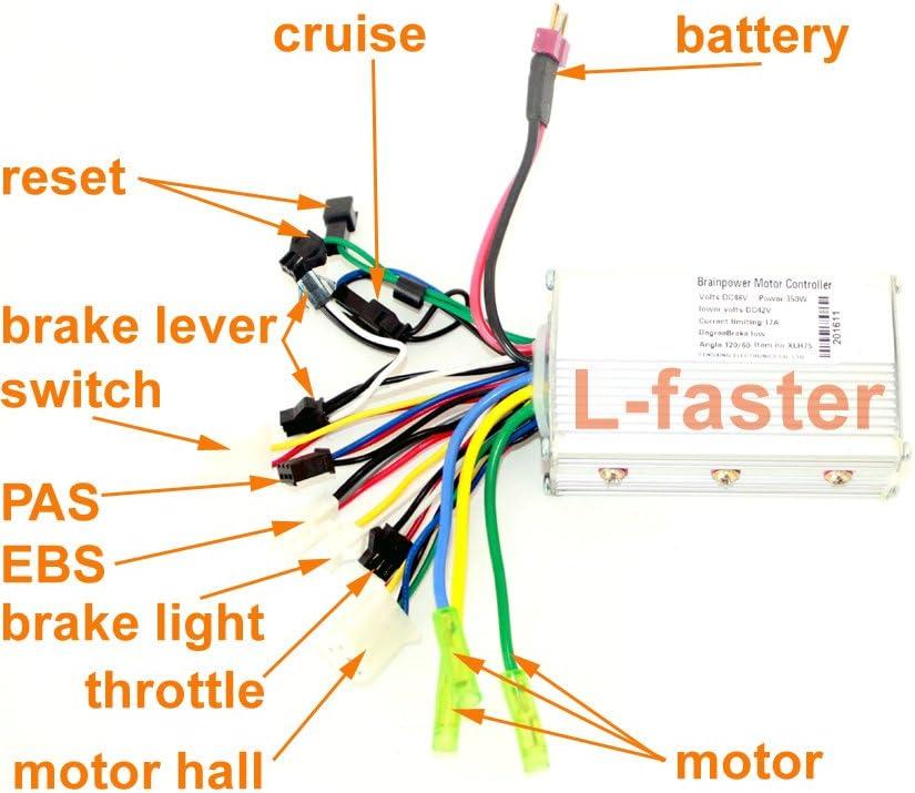 24V36V48V 250W350W de controlador de motor sin escobillas Motor controlador bicicleta eje Motor Hall Sensor Controler el/éctrico veh/ículos el/éctricos