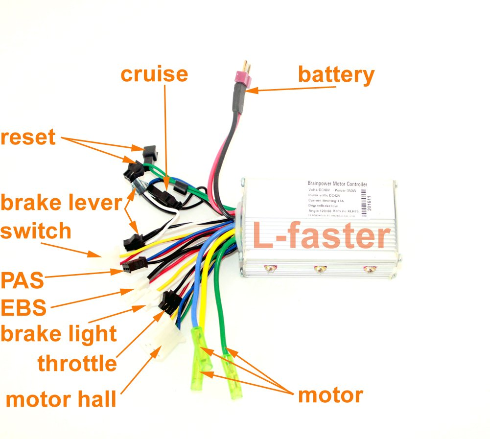 24v36v48v 250w350w Brushless Motor Controller Electric Cycle Wiring Diagram For Scooter Bicycle Hub Hall Sensor Controler Vehicle Sports