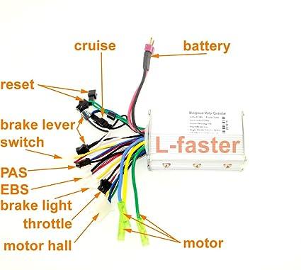 L-faster 24V36V48V 250W350W Brushless Motor Controller Electric Bicycle Hub  Motor Hall Sensor Controler Electric Vehicle Motor Controller
