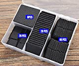 Liveinu Furniture Pads Self Adhesive Felt Furniture Pads Dampening Noise Heavy Duty Chair Leg Pad Black Square Set with Box 88 Pcs